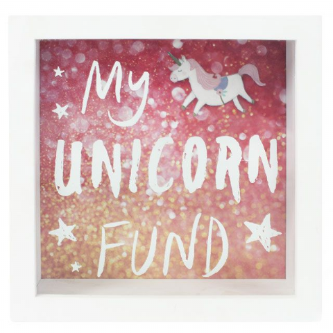 My Unicorn Fund 60535 - Savings Shadow Frame Glass Front Money Box